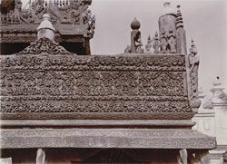 Railing in the verandah of [Shwenandaw] kyaung, [Mandalay]